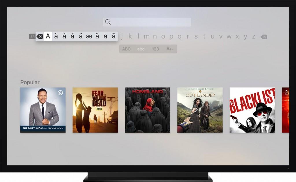 Type on Apple TV
